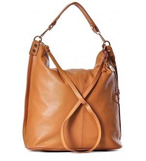 Duża torba damska ze skóry worek BRUNA
