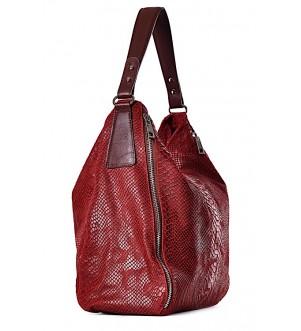 Duża torba damska z tłoczonej skóry ROMANA