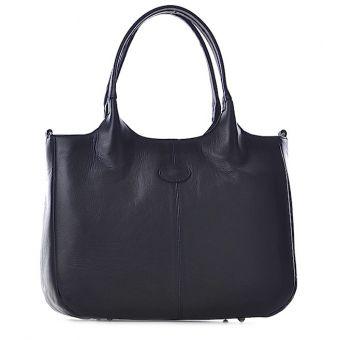 Czarna torba damska na laptopa skóra Unna
