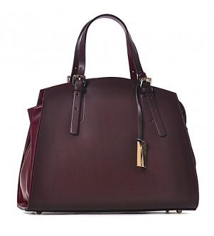 Bordowa torebka damska kuferek Laura