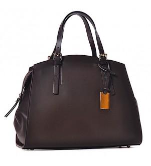 Brązowy torebka damska kuferek Laura