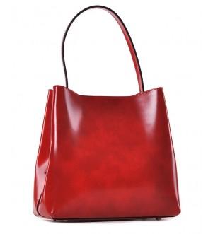 Stylowa czerwona torebka skórzana Adela