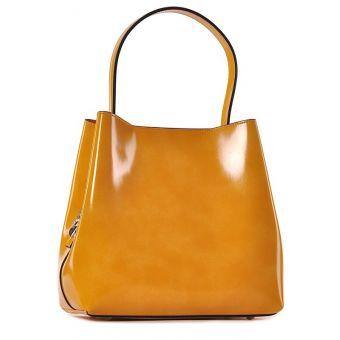 Żółta torebka damska skórzana Adela
