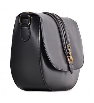 Stylowa czarna torebka listonoszka Zarina