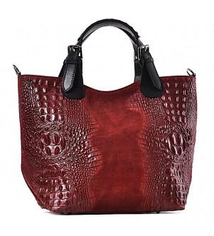 Skórzana torba damska shopper Mirella