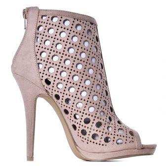Czarne sandały damskie na szpilce