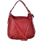 Czerwona torba damska skórzana na ramię