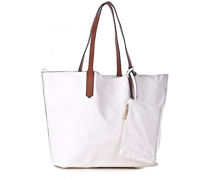 187f3b2ea6e4d Biała torba damska na ramię shopper