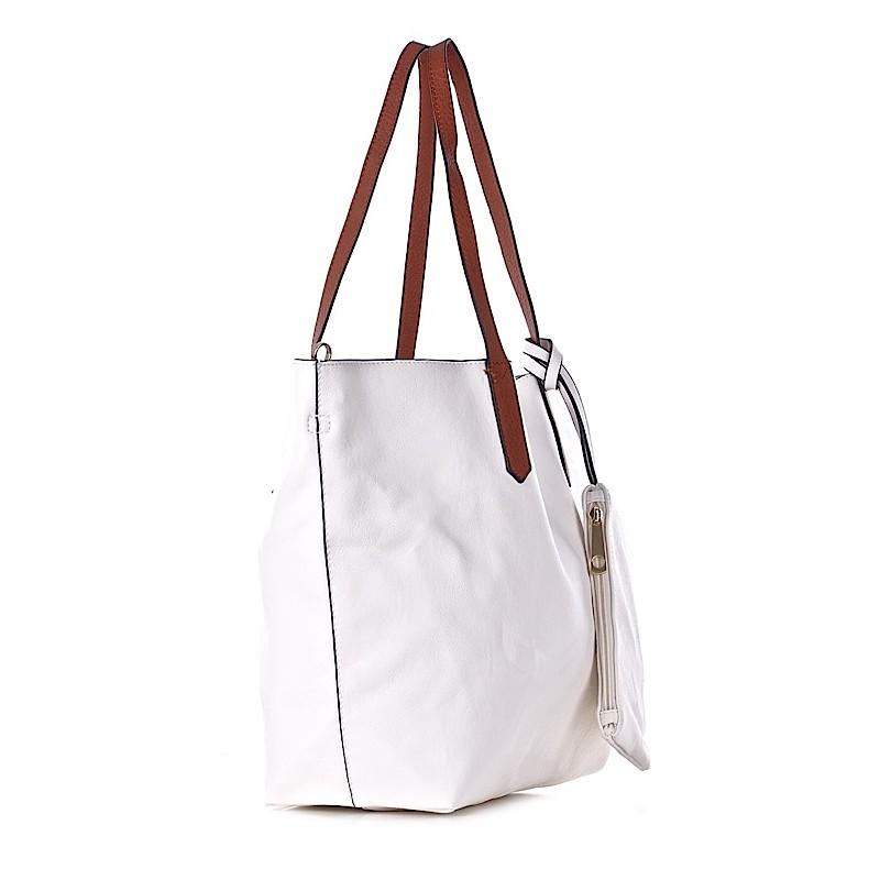d9a0dea0bd3ff Biała torba damska na ramię shopper. ELIZA. -30%. 1/3. ELIZA · ELIZA · ELIZA