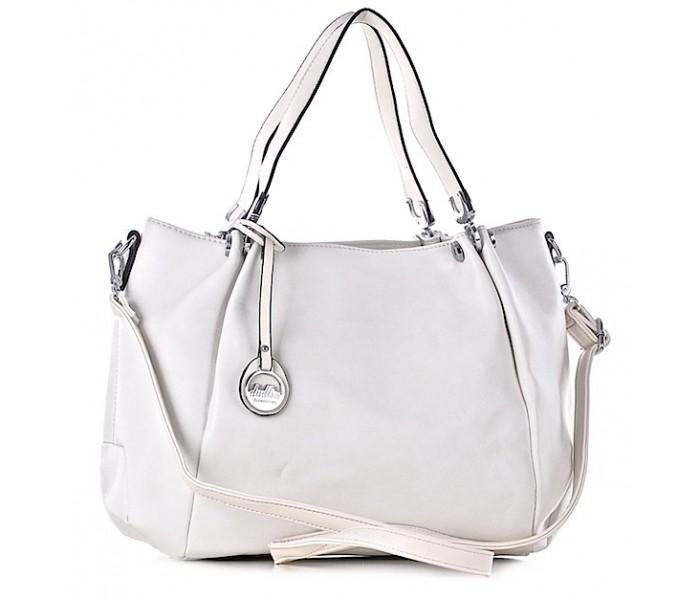 5d55339d61a2c Biała torebka damska z eko skóry elegancka torba