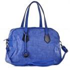 Niebieska torba damska do ręki eko