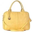 Żółta torebka damska do ręki eko