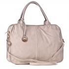 Beżowa torba damska do ręki na lato