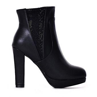 Buty damskie botki z kryształkami