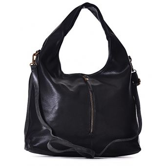 Czarna torebka damska worek na ramię