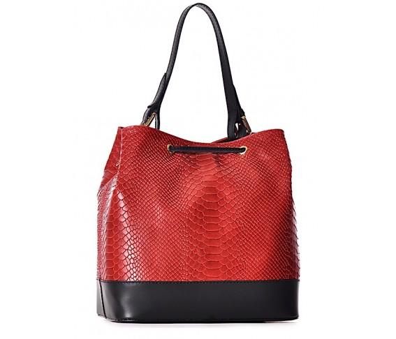 Skórzana torebka damska LETIZIA