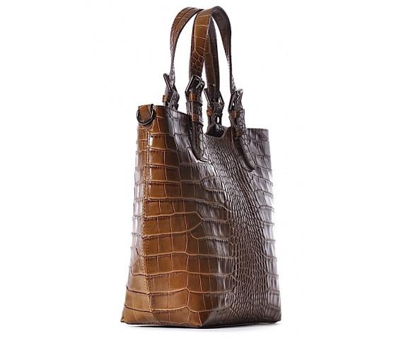 Skórzana torebka shopper BEATRICE