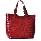 Czerwona torba damska shopper bag Beatrice