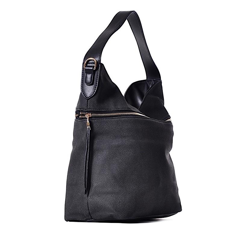 6362b7c113ab8 ... Czarna torebka na ramię BIBIANA ...