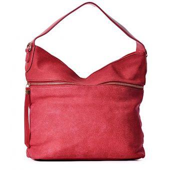 Czerwona torebka na ramię BIBIANA