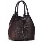 Włoska torba damska ze skóry brązowa