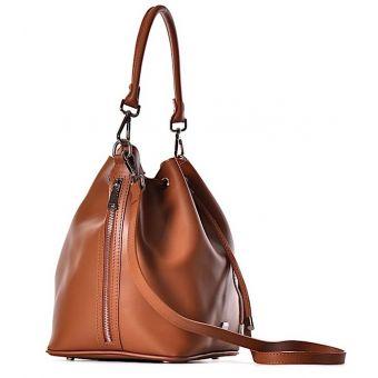 Skórzana torebka damska FIORELLA