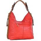 Damska torebka na ramię z kieszeniami czerwona CAREN