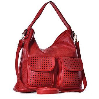 Stylowa torba damska na lato czerwona