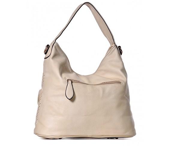 Dziurkowana torebka damska z kieszeniami WENDY