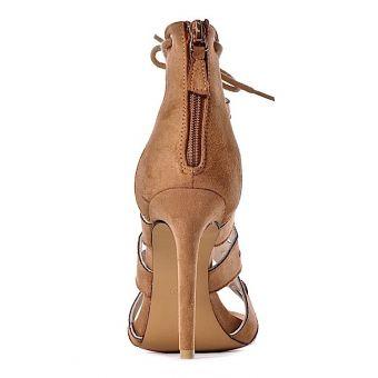 AŻUROWE sandały na szpilce