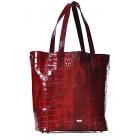 Bordowa torebka damska shopper skóra Adriana