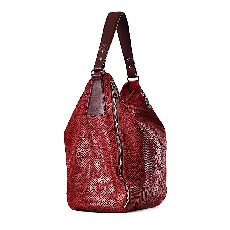 24e676e45b933 ... Duża torba damska z tłoczonej skóry ROMANA ...