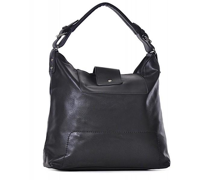 711a600e92386 Czarna torebka damska ze skóry ekologicznej