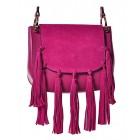 Różowa torebka damska listonoszka boho Kaya