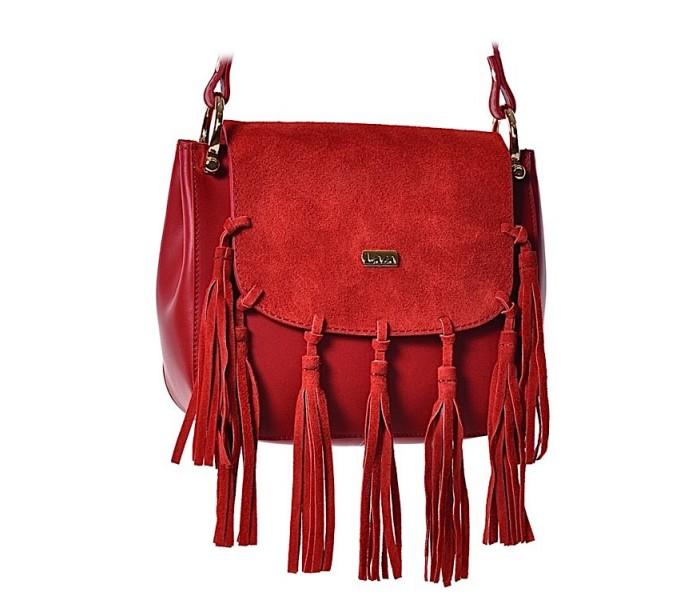 b22f355b5bcde Włoska torebka listonoszka ze skóry czerwona