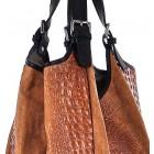 Damska torebka skórzana duża na ramię Saffiro