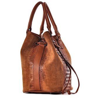 Skórzana torebka damska sakiewka Bella