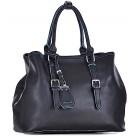 Czarna torebka kuferek ze skóry ekologicznej