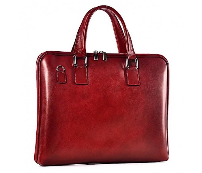 d4fece09af179 Czerwona torba damska na laptopa skórzana