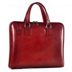 Czerwona torba damska na laptopa skórzana