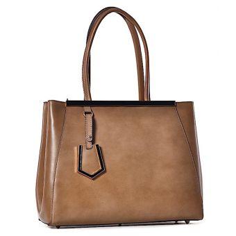 Skórzana torba damska kuferek Luxia