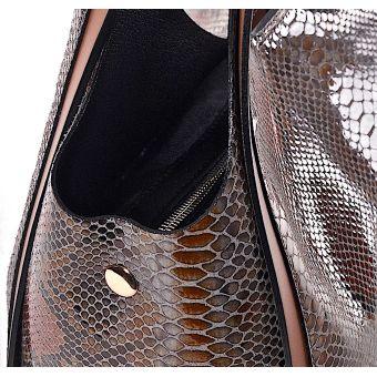 Stylowa torebka damska wężowy wzór Federica