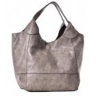 Beżowa torba damska worek na ramię