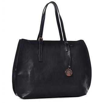 Czarna torba damska shopper Florance