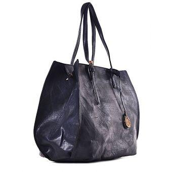 Granatowa torba damska shopper Florance