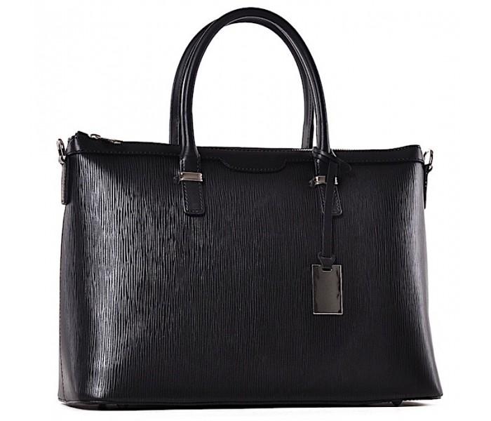 Czarna torebka damska kuferek Teresa