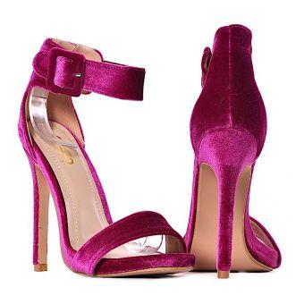 Szpilki damskie sandałki w kolorze fuksji