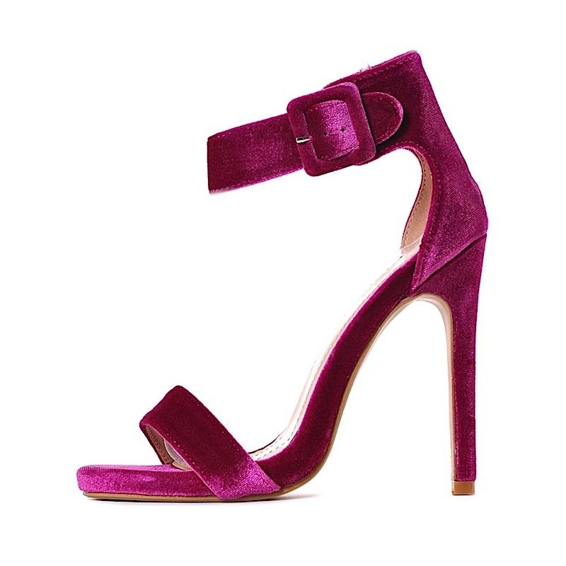 e21db39a9b8f1 ... Szpilki damskie sandałki w kolorze fuksji ...
