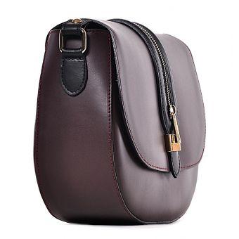 Bordowa torebka listonoszka Zarina