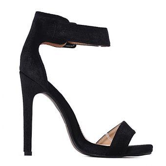 Czarne szpilki sandałki damskie na obcasie